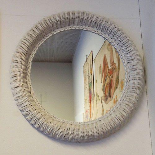 boligtilbehoer spejl hvid flet