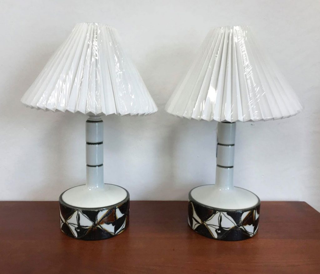 boligtilbehoer bordlampe royal copenhagen keramik