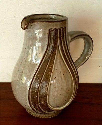 boligtilbehoer kande michael andersen keramik graa brun