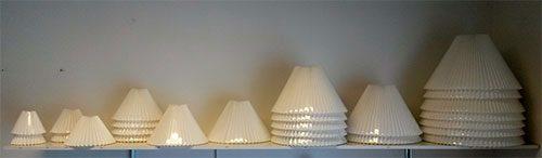 boligtilbehoer lampeskaerme plisse hvide