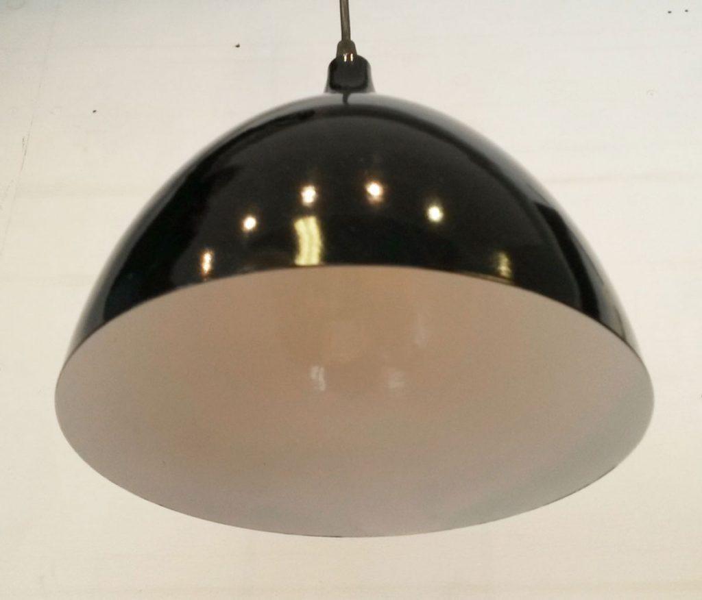 boligtilbehoer loftslampe metal sort