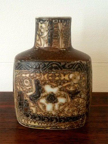 boligtilbehoer vase royal copenhagen aluminia kunstfajance nr 719-3207