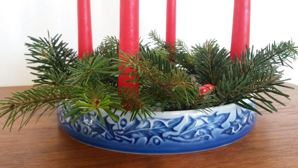 dekohjem retromoebler adventskrans bing groendahl porcelaen