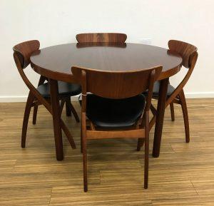 dekohjem retromoebler spisebord mahogni med tillaegsplader dansk moebelproducent