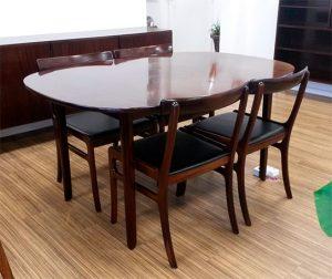 moebler spisebord stole ole wanscher mahogni
