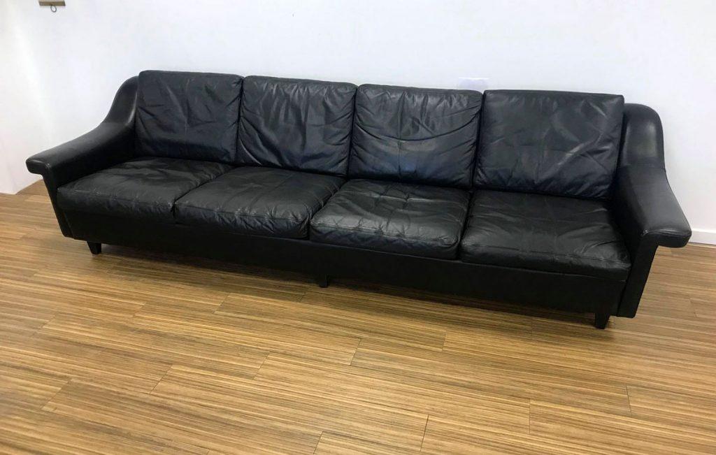dekohjem personers sofa i sort laeder