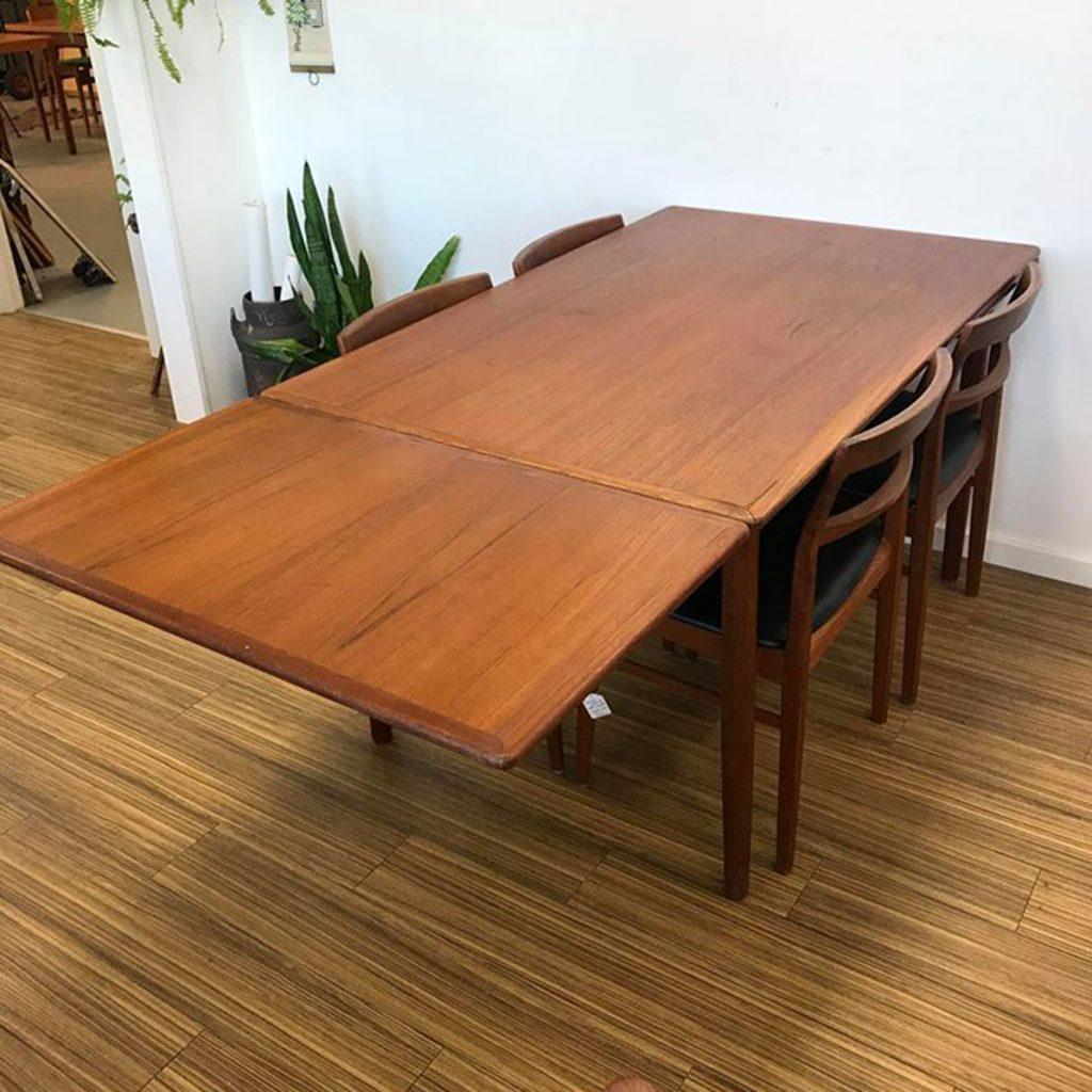 dekohjem retro spisebord med hollandsk udtraek