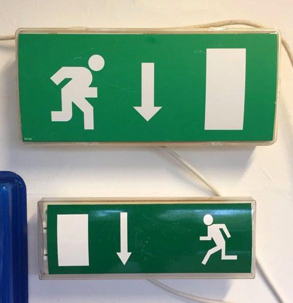 boligtilbehoer exit skilte med lys