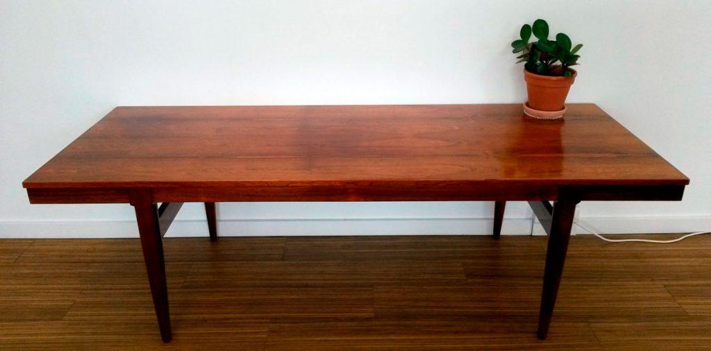 moebler sofabord med udtraeksplader sort formika palisander
