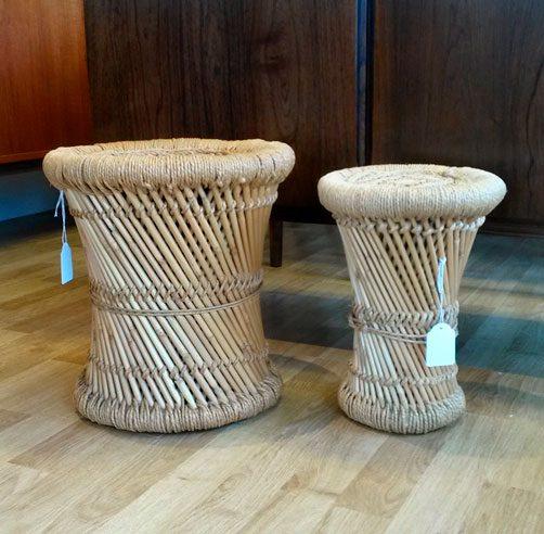 moebler elefantfod bambus 2stk