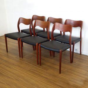 spisebordsstole teak designet af niels o moeller
