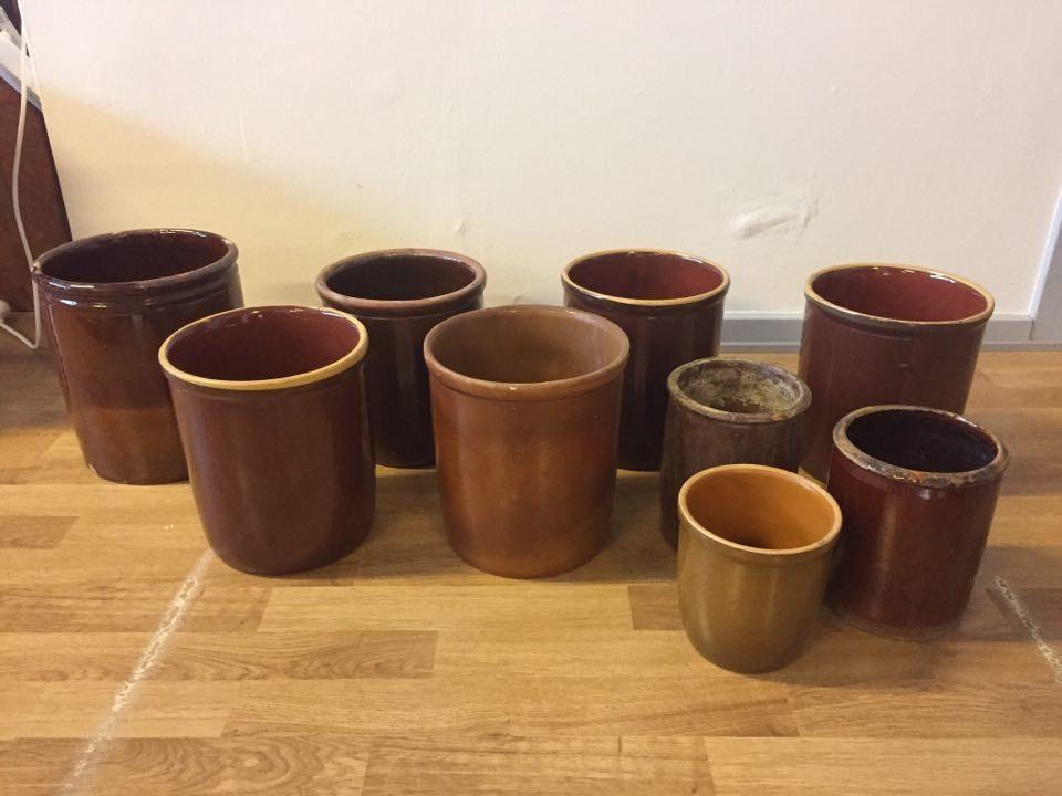 boligtilbehoer syltekrukker keramik forskellige stoerrelser