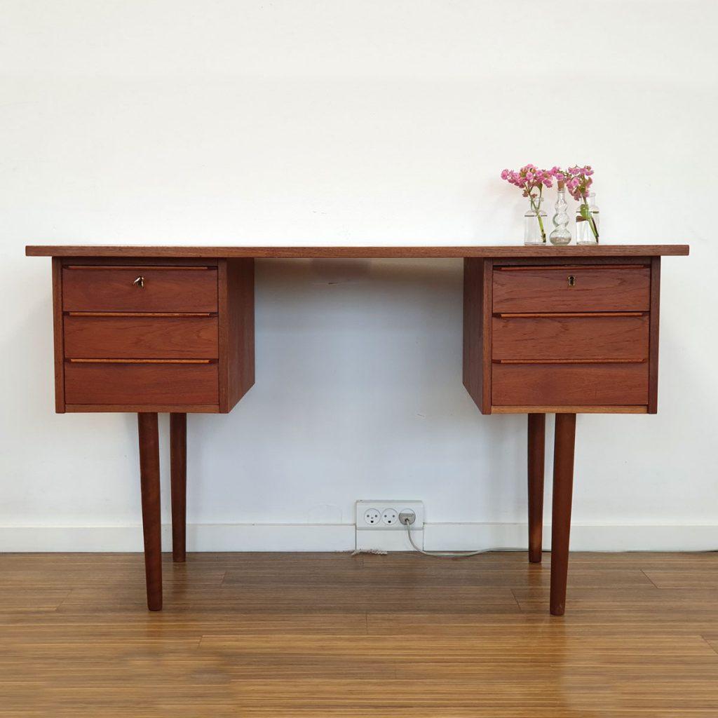 skrivebord teak