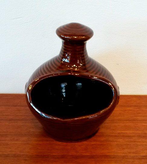 boligtilbehoer saltkar keramik brunglaseret